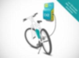 Borne de recharge vélo électrique - installation murale - Cycletic