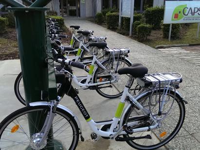 Station de vélos électriques en libre service pour la CAPS