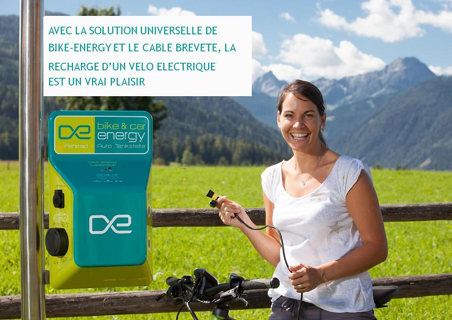 borne de recharge pour vélos électriques