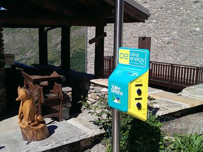 Bornes de recharge pour vélos électriques dans la vallée du Ferrand