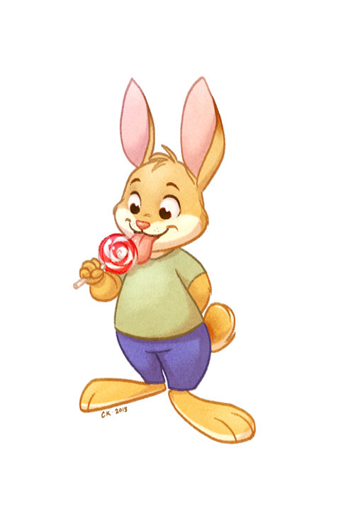 Lollipop Bunny Signed Print