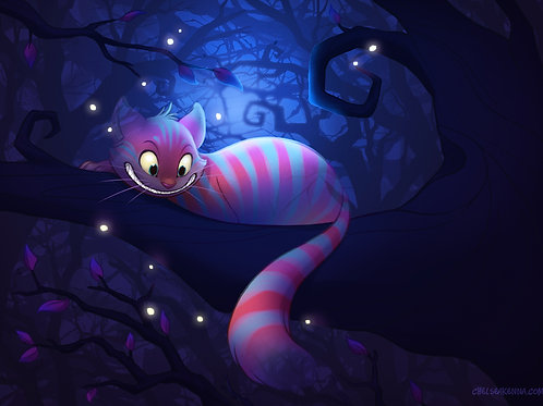 Cheshire Cat Signed Print