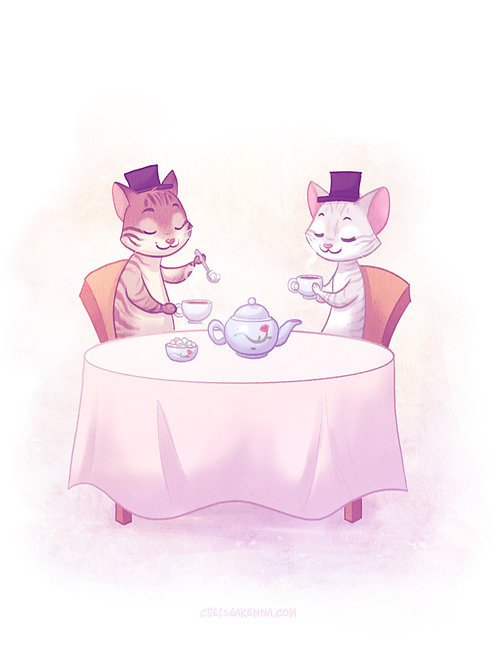 Tea Time Signed Print