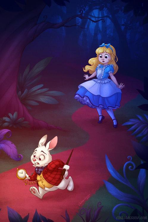 Follow the White Rabbit Signed Print