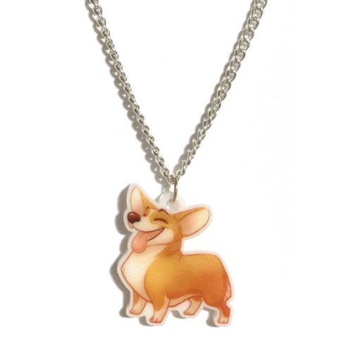 Cheerful Corgi Necklace