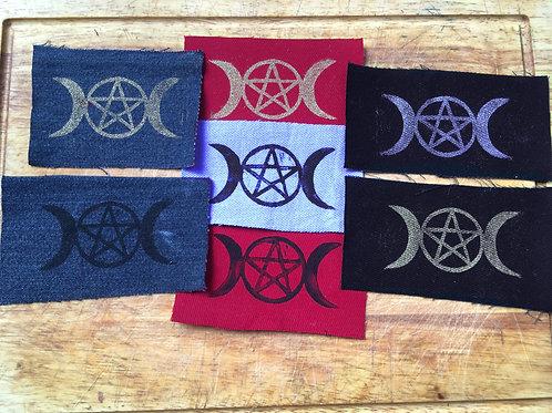Triple Moon & Pentagram Patch