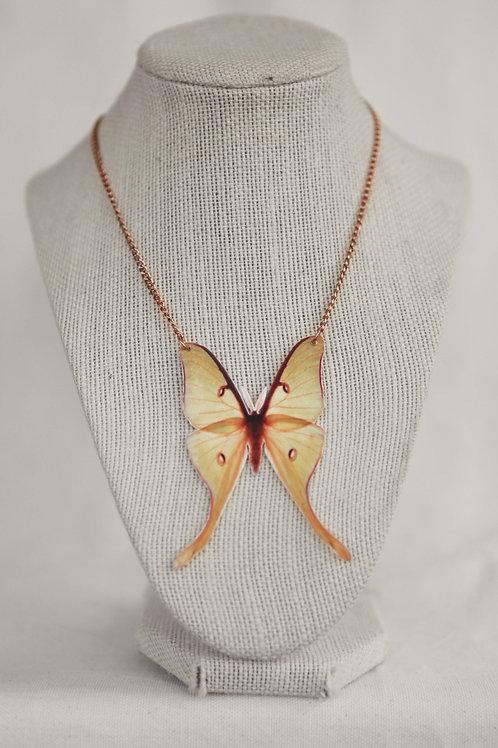 Luna Moth Pendant Necklace