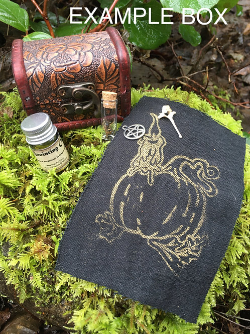Small Mystery Witch/ Pagan/ Alter Box Kit