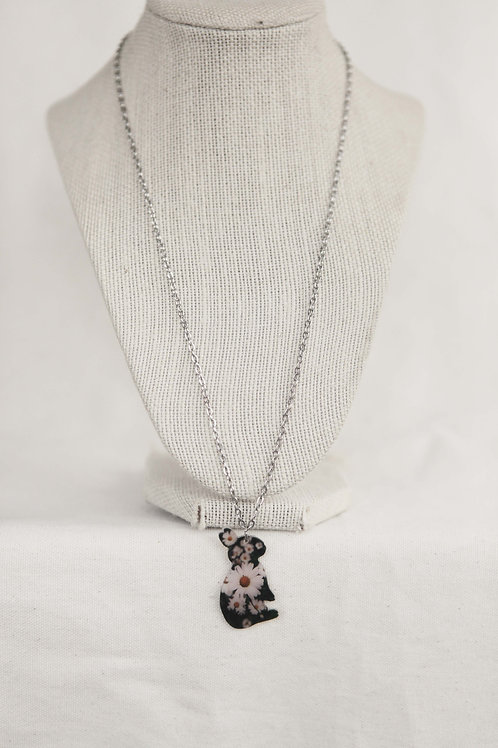 Bunny Silhouette Pendant Necklace