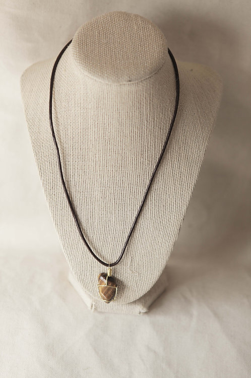 Wire Wrapped Tiger Eye Necklace