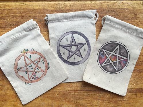 Pentagram Art Print Oracle Bag