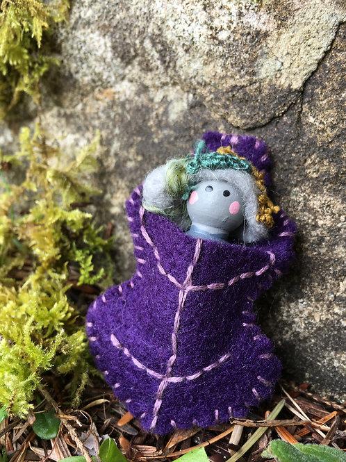 Rock Spirit Doll- Oak Leaf Pin