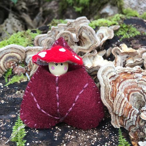Amanita Spirit Doll- Eastern Redbud Pin