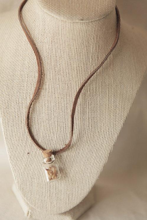 Raccoon Bones in Bottle Necklace