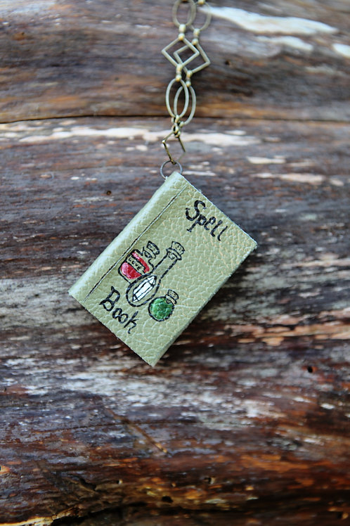 Miniature Book Necklace- Spell Bottles