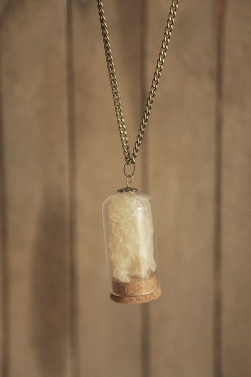 Snake Skin in Glass Dome Necklace