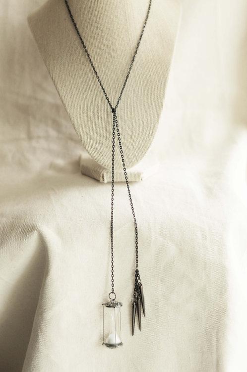 Hourglass & Spike Tie Necklace