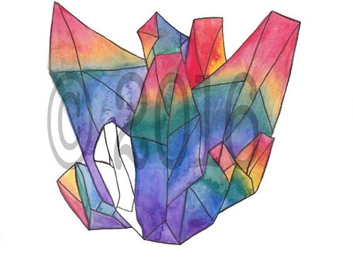 Rainbow Crystal Art Print