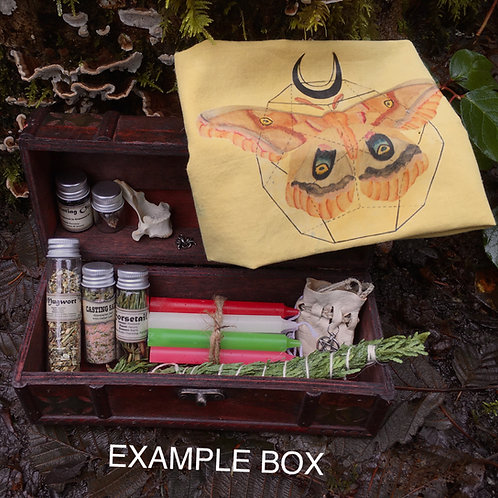 Large Mystery Witch/ Pagan/ Alter Box Kit
