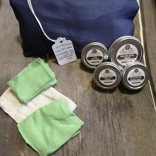 Blue Fabric Small Wilderness Pouch