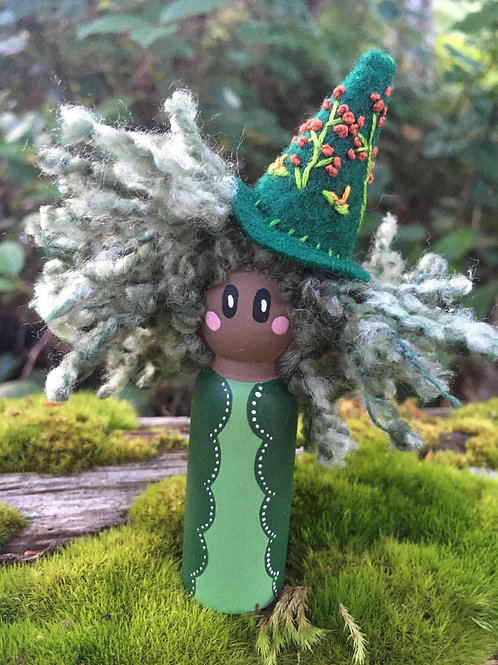 Green Witch Doll