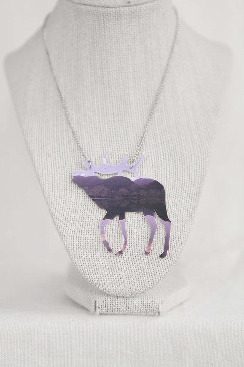 Elk Silhouette Pendant Necklace