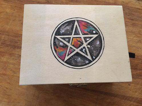 Galaxy Pentagram Oracle Card Box