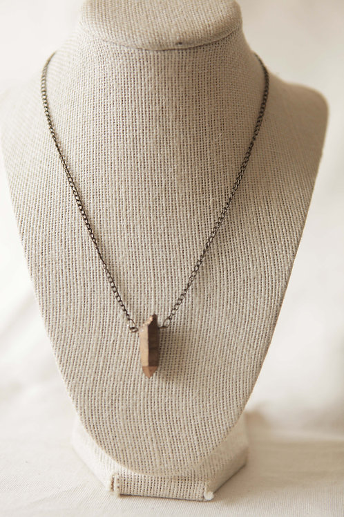 Copper infused Quartz Pendant Necklace