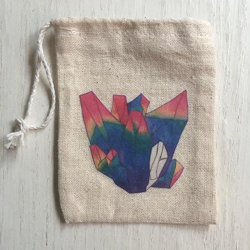 Rainbow Crystal Trinket Bag