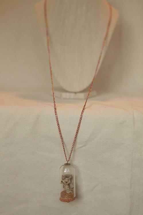 Raccoon Vertebrae Glass Dome Necklace