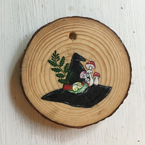 Forest Witch's Hat Wood Round