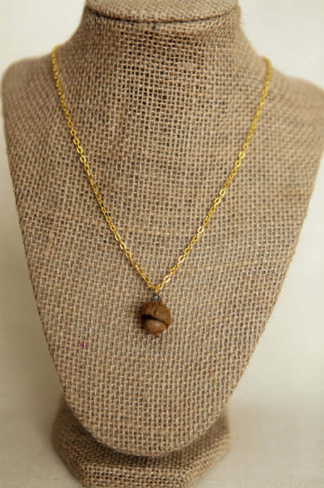 Real Acorn Necklace