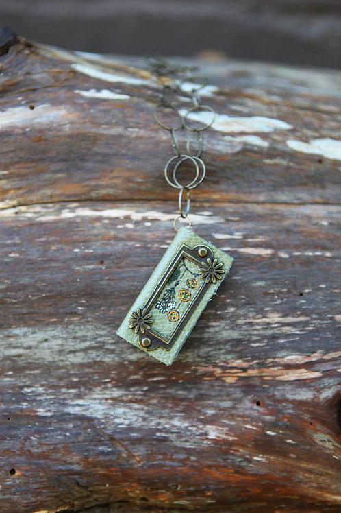 Miniature BookNecklace- Apothecary