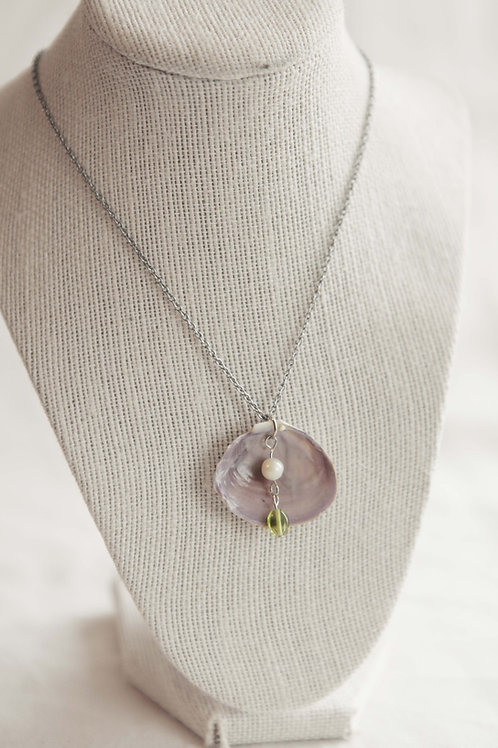 Real Clam Shell Necklace