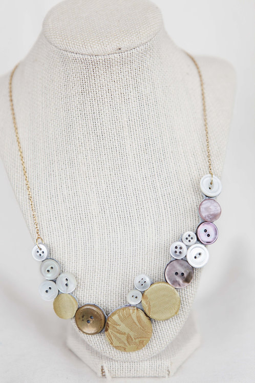 Upcycled Button Necklace