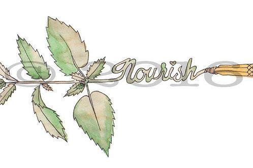 Nourish Arrow Art Print