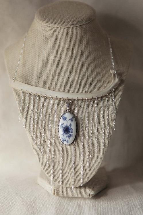 Deer Rib & Chain Pendant Necklace