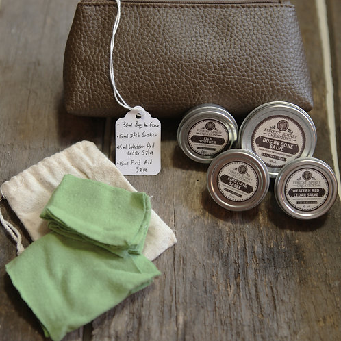 Brown Leather Small Wilderness Pouch