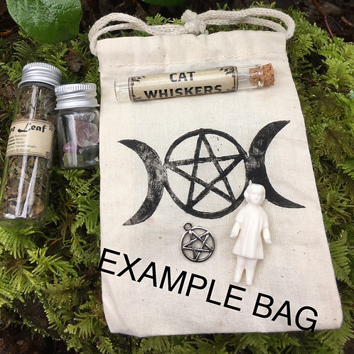 Small Mystery Witch/ Pagan/ Alter Bag Kit