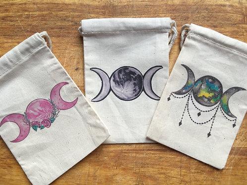 Triple Moon Art Print Oracle Bag