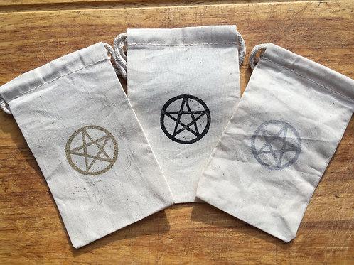 Pentagram Muslin Oracle Bags