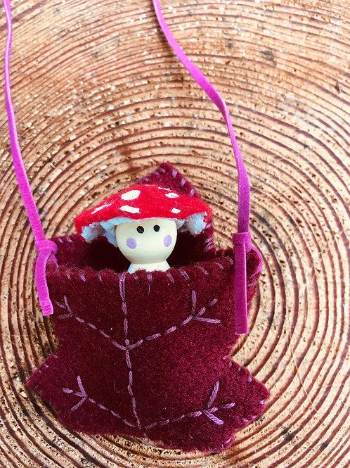 Amanita Spirit Doll-Maple Leaf Necklace