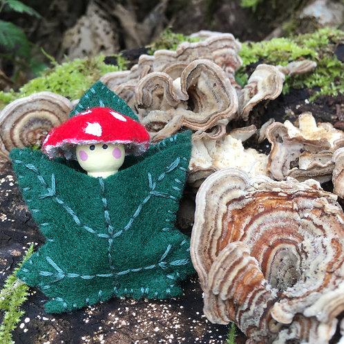 Amanita Spirit Doll- Maple Leaf Pin