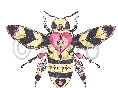 Love Bee Art Print
