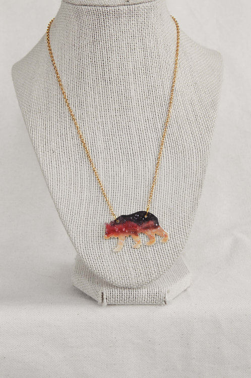 Bear Silhouette Pendant Necklace