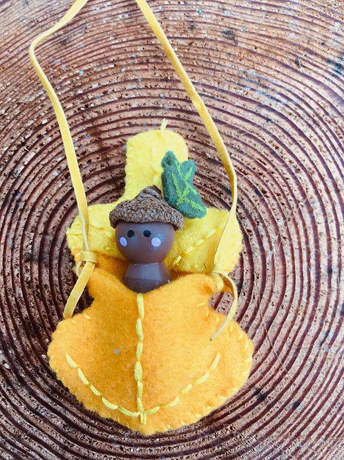 Acorn Spirit Doll- Oak Leaf Necklace
