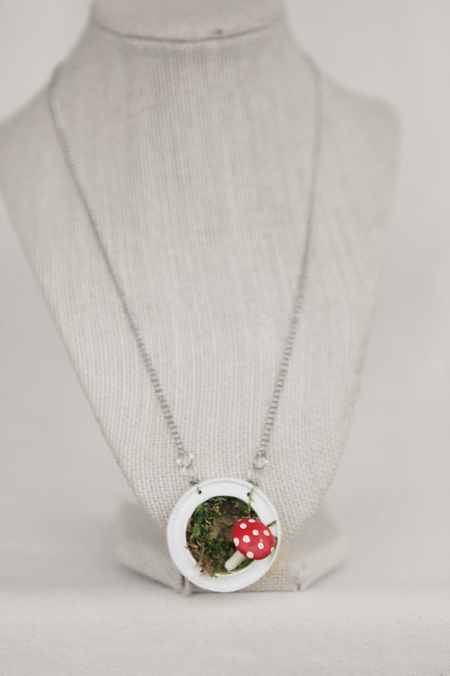 Toadstool & Picture Frame Necklace