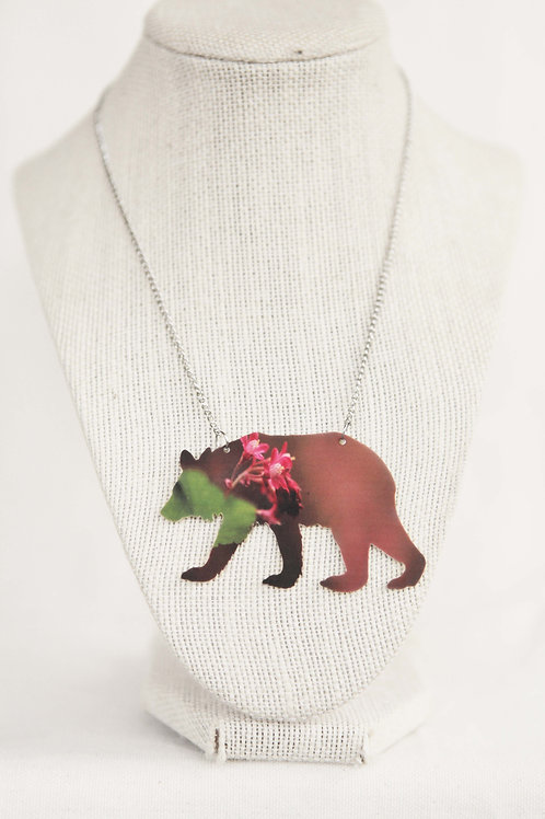 Bear Silhouette Pendant Necklace
