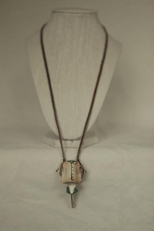 Handpainted Deer Vertebrae Necklace