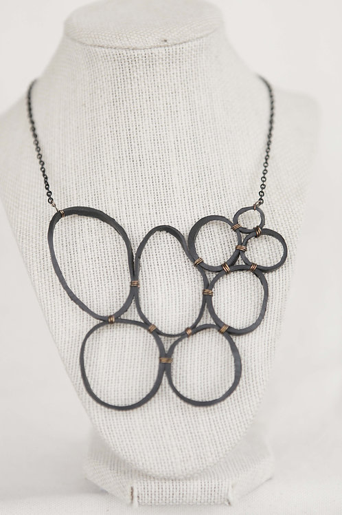 Upcycled Rubber Circle Necklace